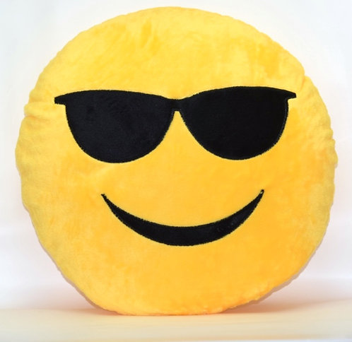 Cool Glasses Emoticon Pillow