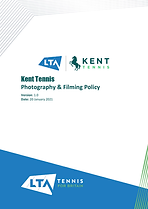 Kent Tennis Photography & Filming Policy