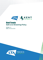 Kent Tennis Safe Live Streaming Policy v