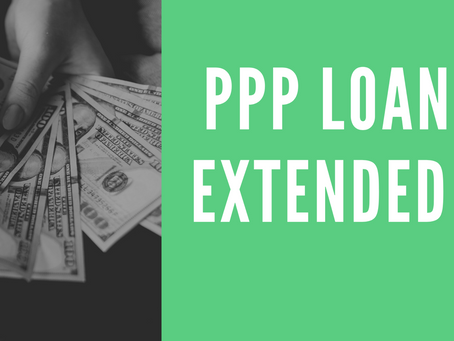 New PPP Loan Extended