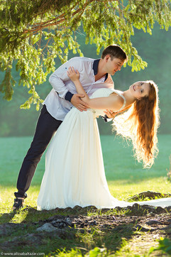 Romantic pre-wedding photo shoot, Hamilton wedding photographer, bride and groom.