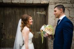 Ancaster Mill wedding venue, Hamilton wedding photographer, bride and groom.