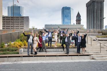City Hall wedding group shoot, Hamilton wedding photographer