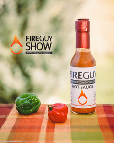 Fire guy, hot sause, product photography, Hamilton food photographer