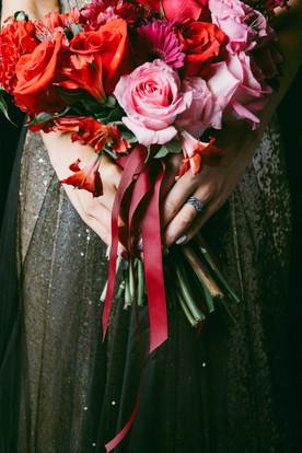 Alternative bride, Hamilton creative wedding photographer