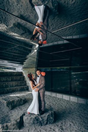 Hamilton wedding photographer, bride and groom, Toronto distillery district
