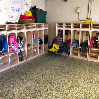Helen Tufts Nursery School Cubbie Area