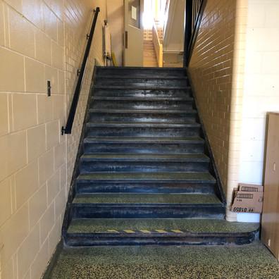 Helen Tufts Nursery School Stairs down to the School