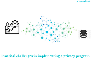 Practical challenges in Implementing a privacy program