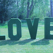 Grass covered Love Letters