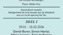 """Daniel Buren """"a tiger cannot change its stripes"""" & Simon Hantaï, Michel Parmentier &qu"""
