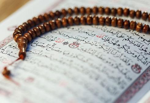 Quran e grânulos de oração