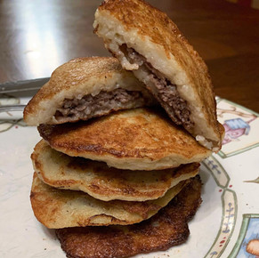 Bison Stuffed Potato Pancakes (Draniki)