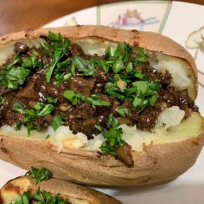 English Bison Baked Potato