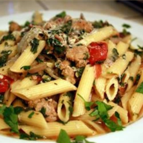 Penne Pasta wish Italian Sausage