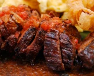 Bison Peppered Hanger Steak