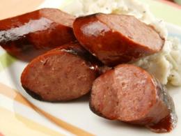 Bison Kielbasa wish Apple Caraway Sauerkraut