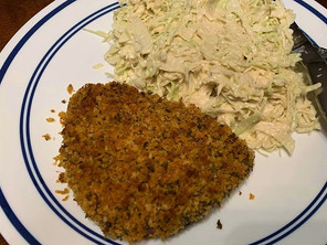 Bison Schnitzel with Slaw