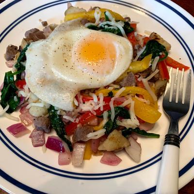 Bison Breakfast Hash