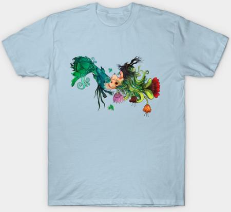 "Playera sencilla ""Metamorfosis"" /  Metamorphosis T-Shirt"