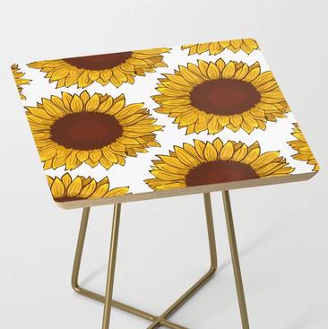 Mesa de girasol / Sunflower Side Table