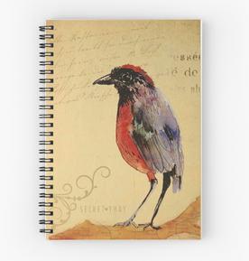 """Libreta de espiral """"Ave 1"""" / Bird 1 Spiral Notebooks"""