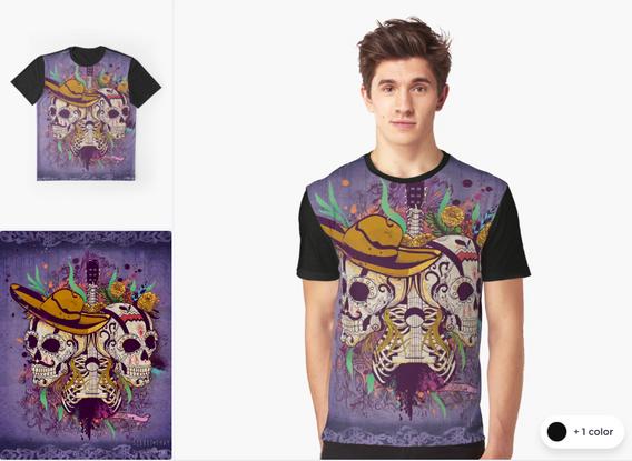 "Playera ""Día de Muertos"" / Day of the dead Graphic T-Shirt"