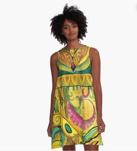 Baroque Organic A-Line Dress