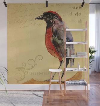 """Mural """"Ave 1"""" / Bird 1 Wall Mural"""