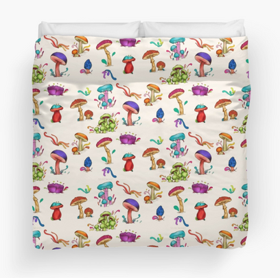 "Colcha ""Hongos"" / Mushrooms Duvet Cover"