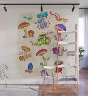 "Mural ""Hongos"" / Mushrooms Wall Mural"