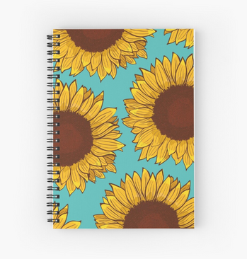 Cuaderno de espiral de Girasol / Sunflower Spiral Notebook