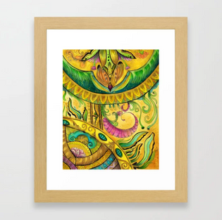 Baroque Organic Framed Art Print