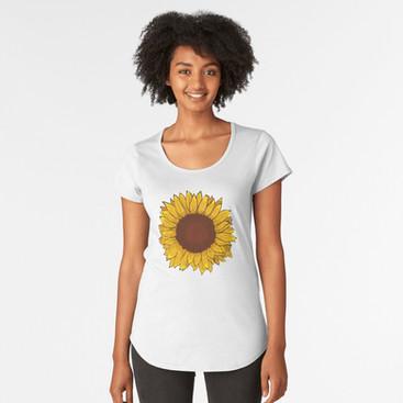 """Playera para mujer """"Girasol"""" / Sunflower Women's T-Shirt"""