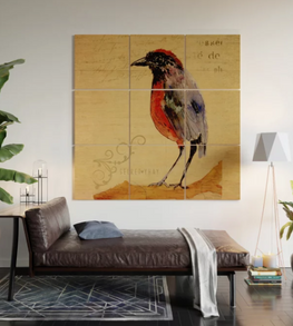 "Impresión en madera ""Ave 1"" / Bird 1 Wood Wall Art"