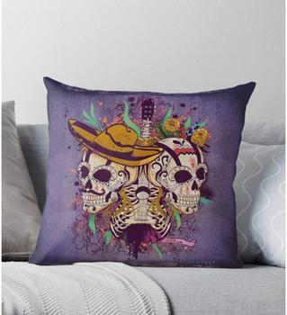 """Cojín """"Día de muertos"""" / Day of the dead Throw Pillow"""