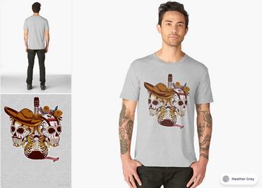 "Playera ""Día de Muertos"" / Day of the dead T-Shirt"