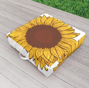 Cojín de girasol para exteriores / Sunflower Outdoor Floor Cushion
