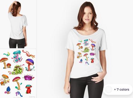 """Playera para mujer """"Hongos"""" / Mushrooms Women's T-Shirt"""