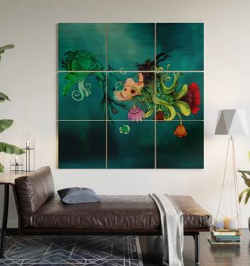 """Impresión en madera """"Metamorfosis"""" / Metamorphosis Wood Wall Art"""