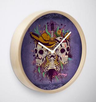 """Reloj de pared """"Día de Muertos"""" / Day of the dead Clock"""