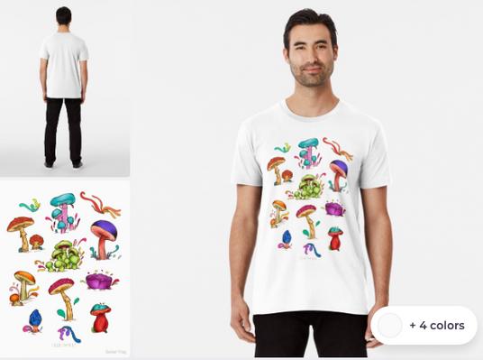"""Playera para hombre """"Hongos"""" / Mushrooms Men's T-Shirt"""