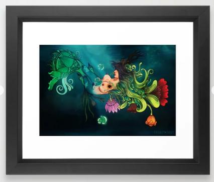 """Impresión enmarcada """"Metamorfosis"""" / Metamorphosis Framed Art Print"""