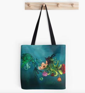 """Tote Bags """"Metamorfosis"""" / Metamorphosis Tote Bags"""