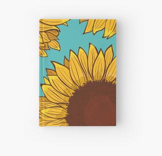 Cuaderno de tapa dura de Girasol / Sunflower Hardcover Journal