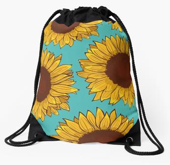 Mochila de Girasol / Sunflower Drawstring Bag