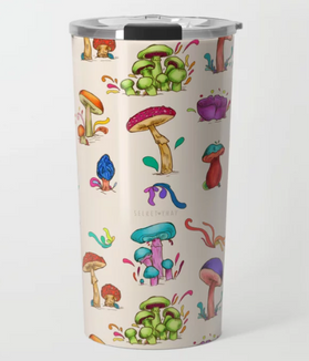 "Termo ""Hongos"" / Mushrooms Travel Mug"