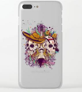 "Carcasa de iPhone ""Día de Muertos"" / Day of the dead Clear iPhone Case"