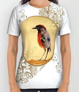 "Playera Unisex ""Ave 1"" / Bird 1 Unisex shirt"