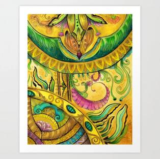 Baroque Organic Art Print